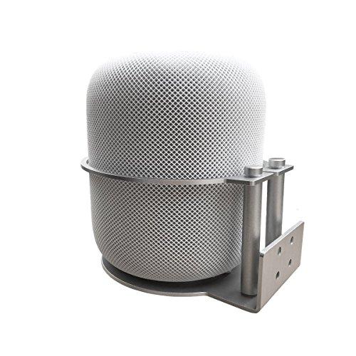 Soporte desmontable del soporte del soporte del soporte de la pared de aluminio de MERES para los altavoces de Apple HomePod (plata)