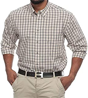 Harbor Bay Big and Tall Plaid Shirt for Men for Men