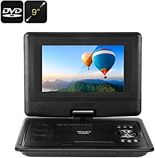 9 Inch Universal Portable DVD Player (3D Movie, Game, Analog TV, 270-Degree Screen Rotation)