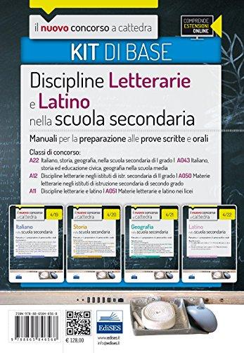 Il nuovo concorso a cattedra. Classi A22 (A043), A12 (A050), A11 (A051). Kit discipline letterarie e latino nella scuola secondaria. Manuale.. Con espansione online
