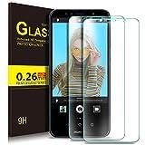 KuGi Huawei Y6 2018 Schutzfolie, 9H Panzerglas Hartglas Glas Bildschirm Schutzfolie [Blasenfrei] [HD Ultra] [Anti-Kratzer] Bildschirmschutzfolie Bildschirmschutz Für Huawei Y6 2018 Smartphone. (Clear)