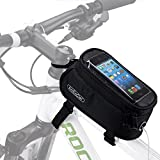 ArcEnCiel Bike Bag Bicycle Frame Front Tube Handlebar Bags Cycling Pack with Touch Screen Phone Case