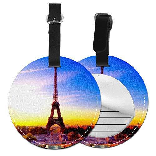 Etiquetas para Equipaje Bolso ID Tag Viaje Bolso De La Maleta Identifier Las Etiquetas Maletas Viaje Luggage ID Tag para Maletas Equipaje Torre Eiffel París 62
