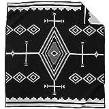 Pendleton Los Ojos Wool Blanket - Black/White, King Size