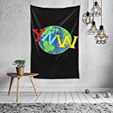 DonaldAPowell YNW Melly Tapestry Wall Hanging Bedding Tapestry 3D Printed Art Tapestry Home Decor Size: 60'x40'