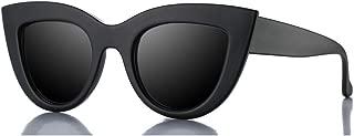 Retro Cateye Sunglasses for Women Fashion Clout Goggles Mirror UV400 Protection Cat Eye Sun Glasses