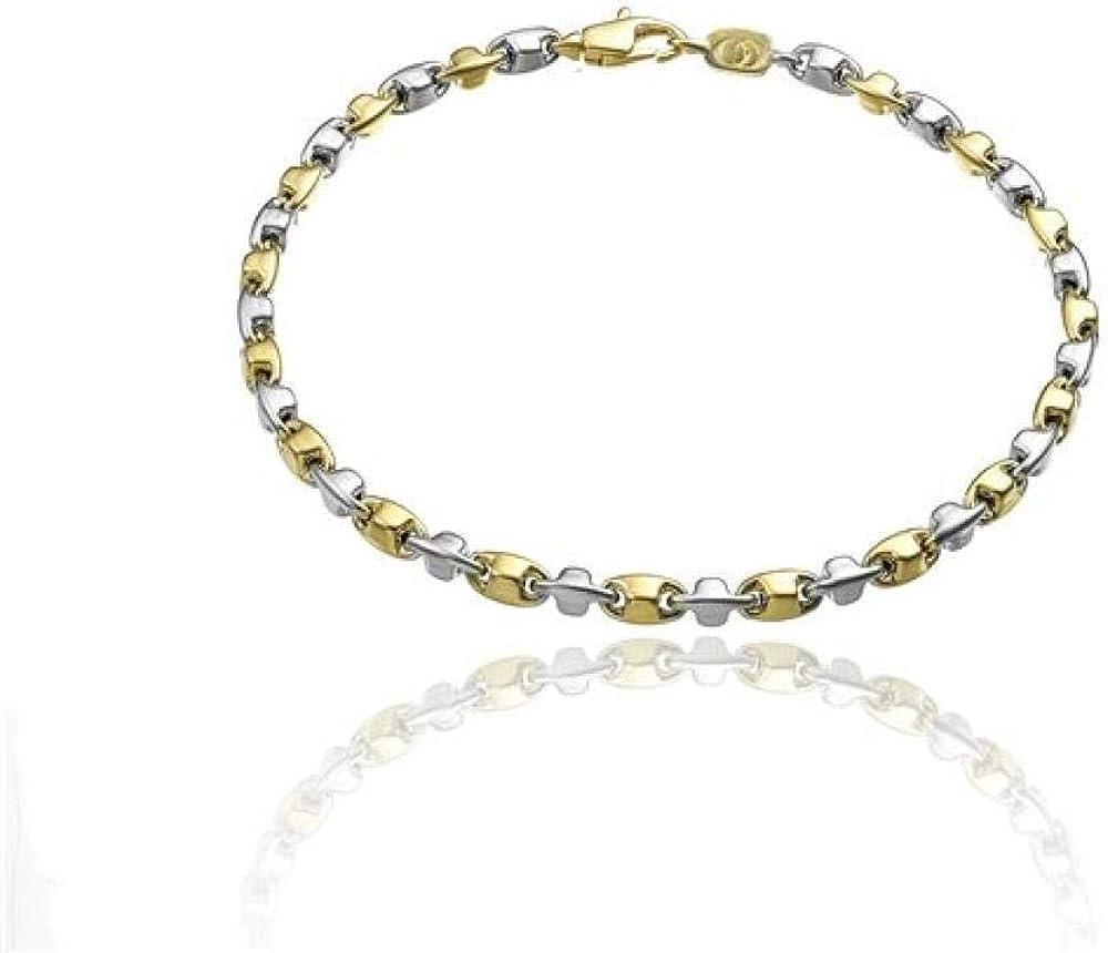 Chimento bracciale per  donna in oro bianco e giallo 18 k 1B05288ZZ1180_0