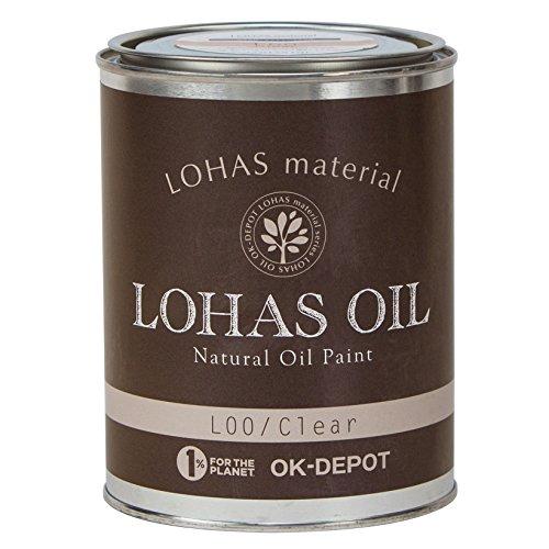 LOHAS material 木部用国産自然塗料 ロハスオイル チャコールグレー 0.75L