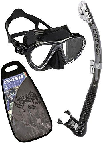 Cressi Big Eyes Evo Alpha Ultra Dry snorkelset met snorkel en duikbril waterdicht duikmasker anti-condens anti-lek van gehard glas Premium Dry snorkel voor volwassenen