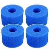 Lifreer - Cartucho de filtro para bañera de hidromasaje (4 unidades, reutilizable, lavable, tipo S1)