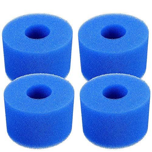 Lifreer Whirlpool-Filterkartusche für Intex Pure Spa, wiederverwendbar, waschbar, Schaumstoff, S1 Typ