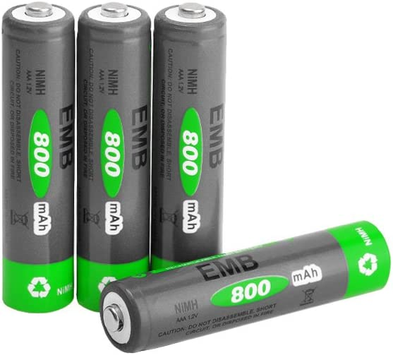Exceed RC LSD NiMH Rechargerable AAA Battery 1.2v 800 mAh 4 Pieces