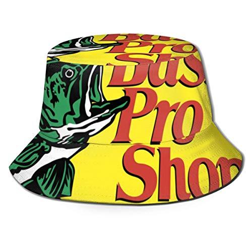 RFVBG Männer und Frauen General Caps Baumwolle Fischerhut Bass Pro Shops Logo Einzigartiges Design Hut Eimer Kappe Schwarz