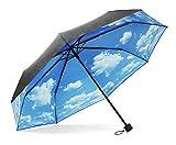 ColorDrip blauen Himmel weiße Wolken Folding Regenschirm Reise