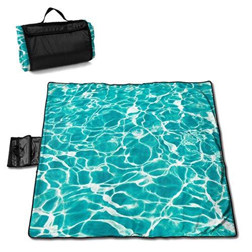 GuyIvan Strand Picknick Decke Welle Wasser Meer Wetterfest Outdoor Outdoor Matte Soft Tote Musik Festivals Quick Dry Bag