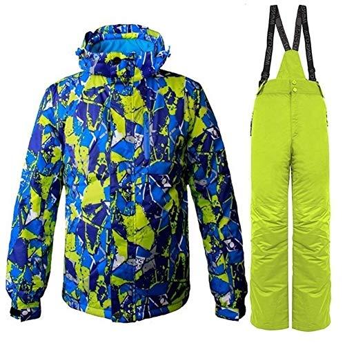 No brand TEYUN Tute da Sci Maschile Giacche e Pantaloni for Snowboard 2020 Inverno Caldo di Spessore Impermeabile Antivento Inverno Comprensori Bretella Pantaloni (Color : Men 01, Size : M)