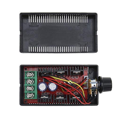 PWM DC Motor Drehzahlregler HHO Regler 9-50V 40A 2000W mit Gehäuse zum Dimmen Der DC Lampe
