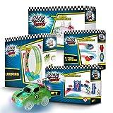 BCdirekt Magic Tracks Zubehör Set | Autorennbahn für Kinder ab 3 Jahren | Leuchtende Autos | Auto Zubehör für Autorennbahn | Auto Spielzeug Zubehör Set