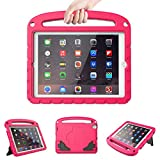 LTROP Kids Case for Apple iPad 4 3 2 - Light Weight Shock Proof Convertible Handle Stand Case for iPad 9.7' iPad 4th Generation/ iPad 3rd Generaion/ iPad 2 with Retina Display - Hot Pink