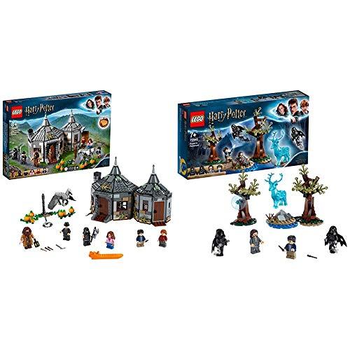 LEGO Harry Potter - Cabaña de Hagrid Rescate de Buckbeak, Juguete de Construcción con Hipogrifo + Harry Potter - Expecto Patronum, Set de Construcción para Recrear Mágicas Aventuras