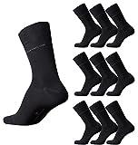 TOM TAILOR 9er Pack Men Basic Strumpf Größe 39-46 black schwarz Mehrpack Strümpfe Socken Sparpack, Size:39-42