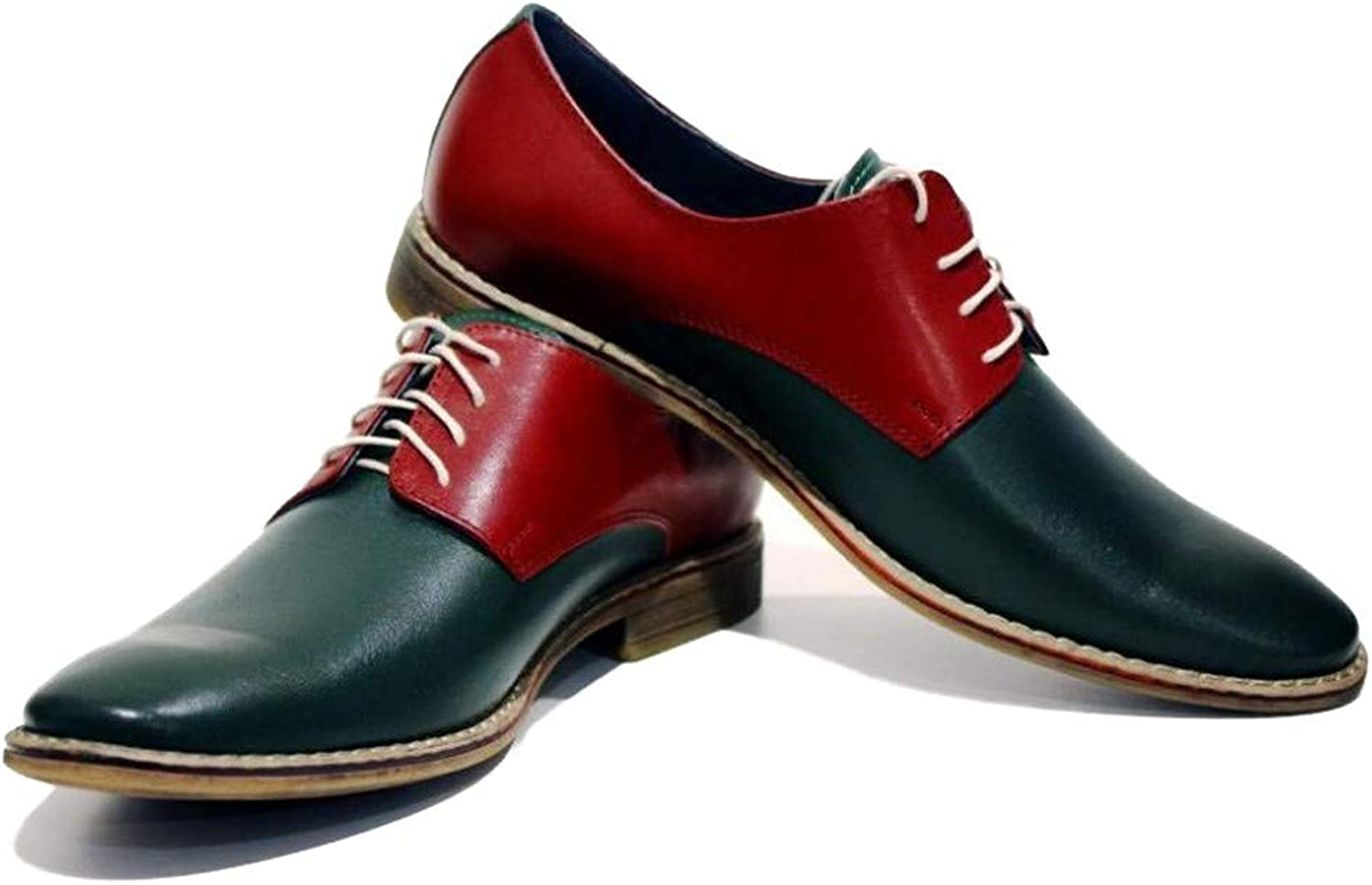 aa02592b7ef Modello Albenga - Handmade Italian Leather Mens color Red Red Red ...