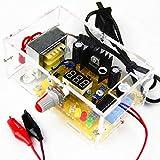 KKmoon LM317 Voltaje regulable ajustable 1.20V-12V 2W Módulo de fuente de alimentación PCB Kits electrónicos con carcasa