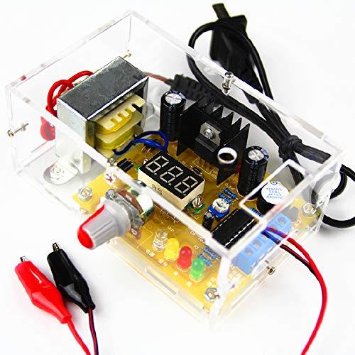 Regolata Alimentatore Kit,LM317 Regolatore di Tensione Stabilizzato Tensione Regolabile 1.20V-12V 2W Modulo Elettronico Modulo PCB Kit Elettronico con Guscio