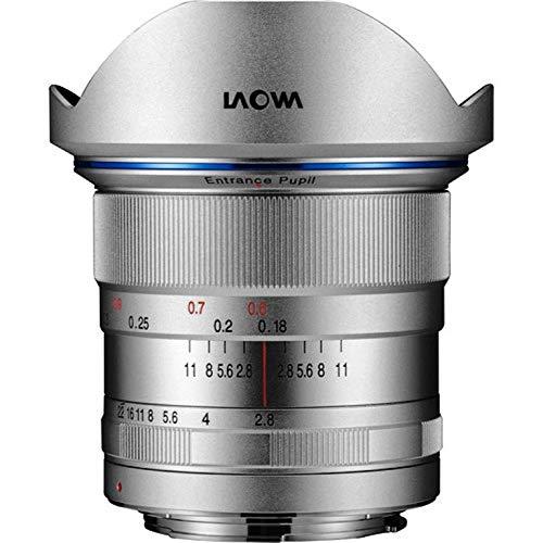 Laowa 12mm f/2.8 Zero Distortion SLR lens ultrabreed zilver