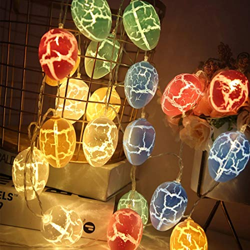 OUYA 2 Pcs Easter Eggs LED String Lights 10 LEDs Battery Powered Fairy String Lights Easter Decorations for Easter Spring Theme Party for Bedroom Holiday Party Home Indoor Outdoor