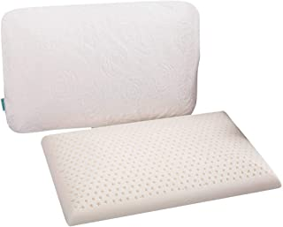 QIQIHOME Slim Sleeper - Natural Latex Foam Pillow , Extra Thin, Ventilated, Low Profile, 23 X 15 X 2.7inch