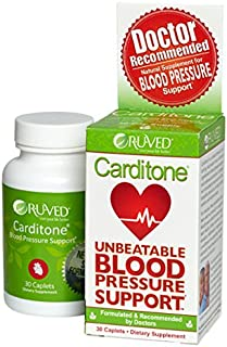 RUVED Carditone, Unbeatable Blood Pressure Support, 30 Count