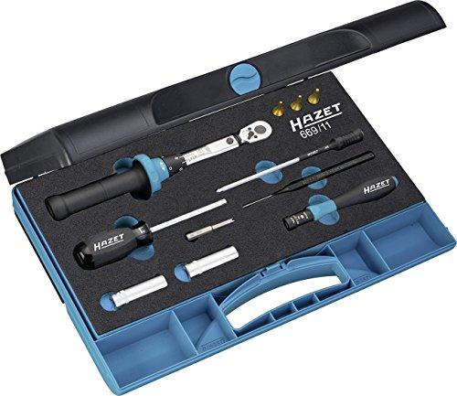 HAZET Werkzeug-Satz (für Reifendruck-Kontrollsysteme, mit Drehmomentschlüssel 5107-2CT und Drehmoment-Schraubendreher 6001-0.6/3, 11 Einzelteile) 669/11