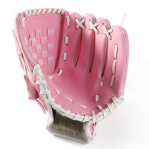 JVSISM Au?en Sportarten Zwei Farben Baseball Handschuh Softball Trainings Ger?t Gr??e 11,5/12,5 Linke Hand für Erwachsene Mann Frau Baseball Handschuh Rosa 12,5