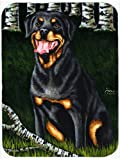 Caroline's Treasures AMB1388MP Backwoods Companion Rottweiler Mouse Pad, Hot Pad or Trivet, Large, Multicolor