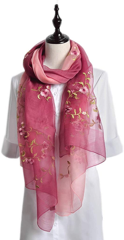 KTYX Silk Mulberry Silk Shawl Summer Sunscreen Scarf Scarf (color   A, Size   190  80cm)