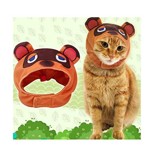 Jacos Pet Headwear Kostüm Hund Katze Nette Neuheit Tier Tom Nook Hut Headwear Halloween Weihnachten Festival Geburtstag Thema Party Foto Prop