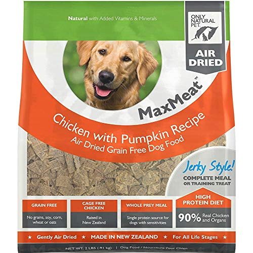 Only Natural Pet MaxMeat Holistic Grain-Free Air Dried Dry Dog Food - Made with Real Meat - Chicken with Pumpkin & Parsley 2 lb