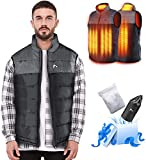 AFUNSO Heated Vest for Men/Women, Electric Heating Coat Dual Independent Temperature Control Extra Collar Heated Hiking, Ice skating for Heated Jacket/Sweater/Thermal Underwear Battery Not Included