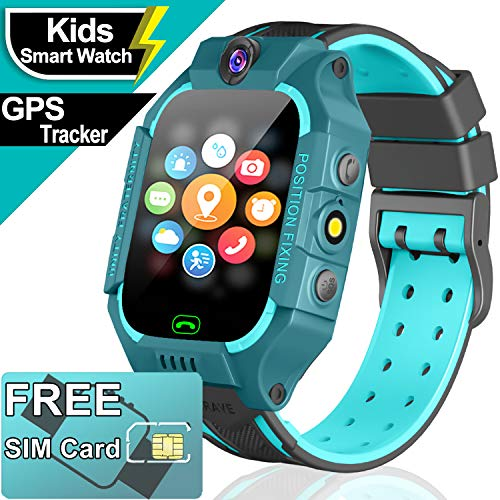 Waterproof Smart Watch for Kids GPS Tracker - Kids...