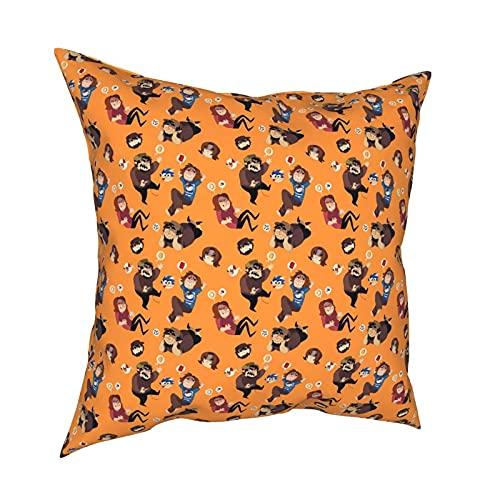 Throw Pillow Funda Fundas de Almohada Juego de 45x45CM Grumps decoración para la decoración del hogar Oficina Sofá Holiday Bar Café Boda Coche