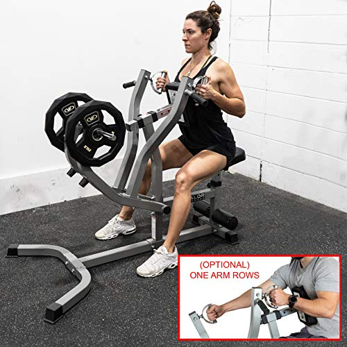 Valor Fitness CB-14 Seated Row Machine/Chest Pull Machine Back Exercise Equipment w/Independent Arms T Row Rotating Handles