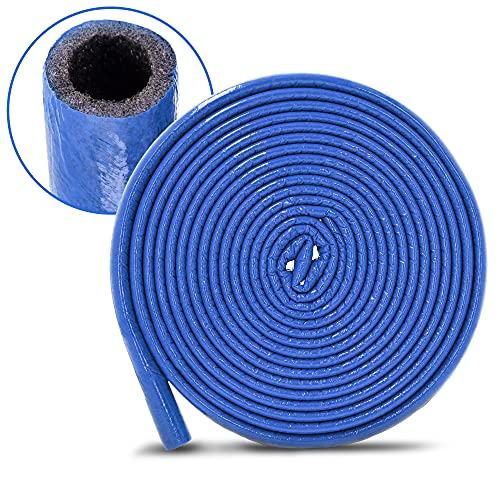 PE-Rohrisolierung Isolierschlauch 10 m Rolle x Ø 35 mm / 6 mm Isolierstärke Blau | Schutzschlauch Heizungsrohr Isolierung mit Schutzhaut | Rohr Dämmung Schlauch Rohrdämmung Warmwasserleitung Heizung