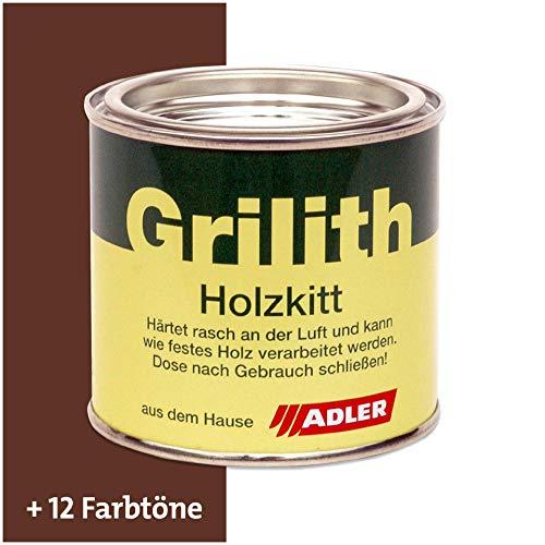 ADLER Grilith Holzkitt Spachtelmasse Kitt für Holz Möbel Basteln Reparieren Nussbaum Dunkel 200 ml