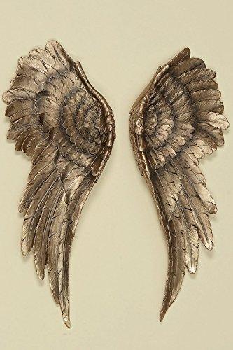 Boltze 2er Set Wand Objekt Engelsflügel Engel Figur Flügel Angel