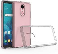 LG Stylo 4 Case, JanCalm Clear Slim Protective Cover with Lightweight, Soft TPU Bumper Edges & Transparent Hard PC Back Hybrid Cases for LG Stylo 4/Q Stylus/Stylo 4 Plus (2018) (Gray)