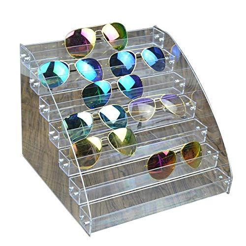 Perfecthome verkoopstandaard, meerdere lagen, afneembaar, houder voor zonnebrillen, houder van acrylglas, transparant