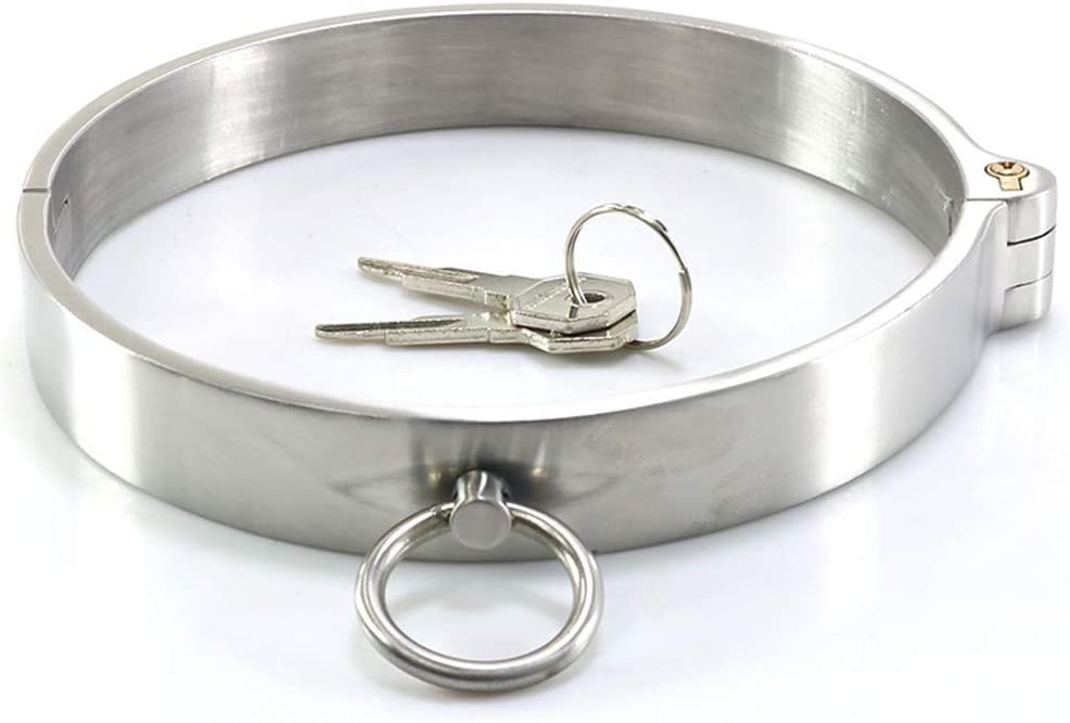 In a popularity Adult Stainless Steel Neck Collar Cuff Tulsa Mall - Bondage BDSM Restraint