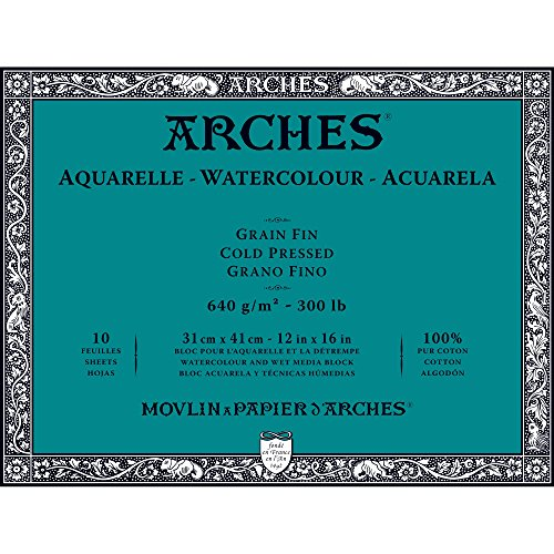 Unbekannt Arches 1795067Bloc para Acuarelas, Madera, Color Blanco, 41x 31x 1cm