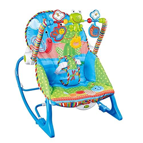 Molare Mecedora para niños pequeños, Silla de bebé múltiple con cojín, cinturón de Seguridad Elevador, Silla Mecedora 3 en 1 para Elegir el Color del bebé, Mecedora Transpirable First-Rate